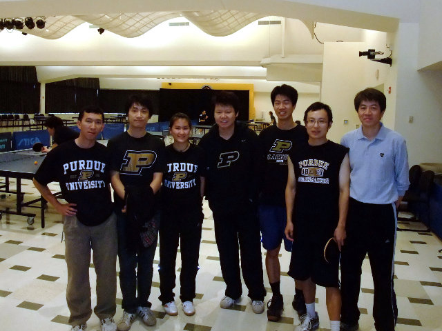 Purdue Table Tennis Team